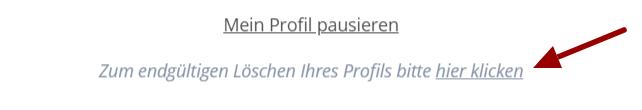 Singlebörsen Profil löschen